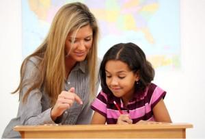家庭教師のレッスンのイメージ 先生と子供