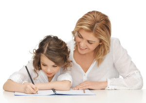 オンライン英会話家庭教師イメージ(先生と子供)